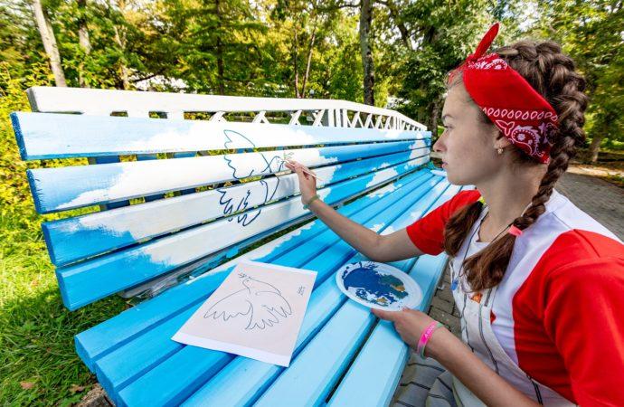 Орлята воссоздали «Голубку» Пикассо к Международному дню мира
